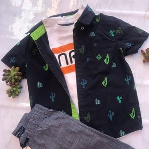 Cactus Printed Shirt button down set
